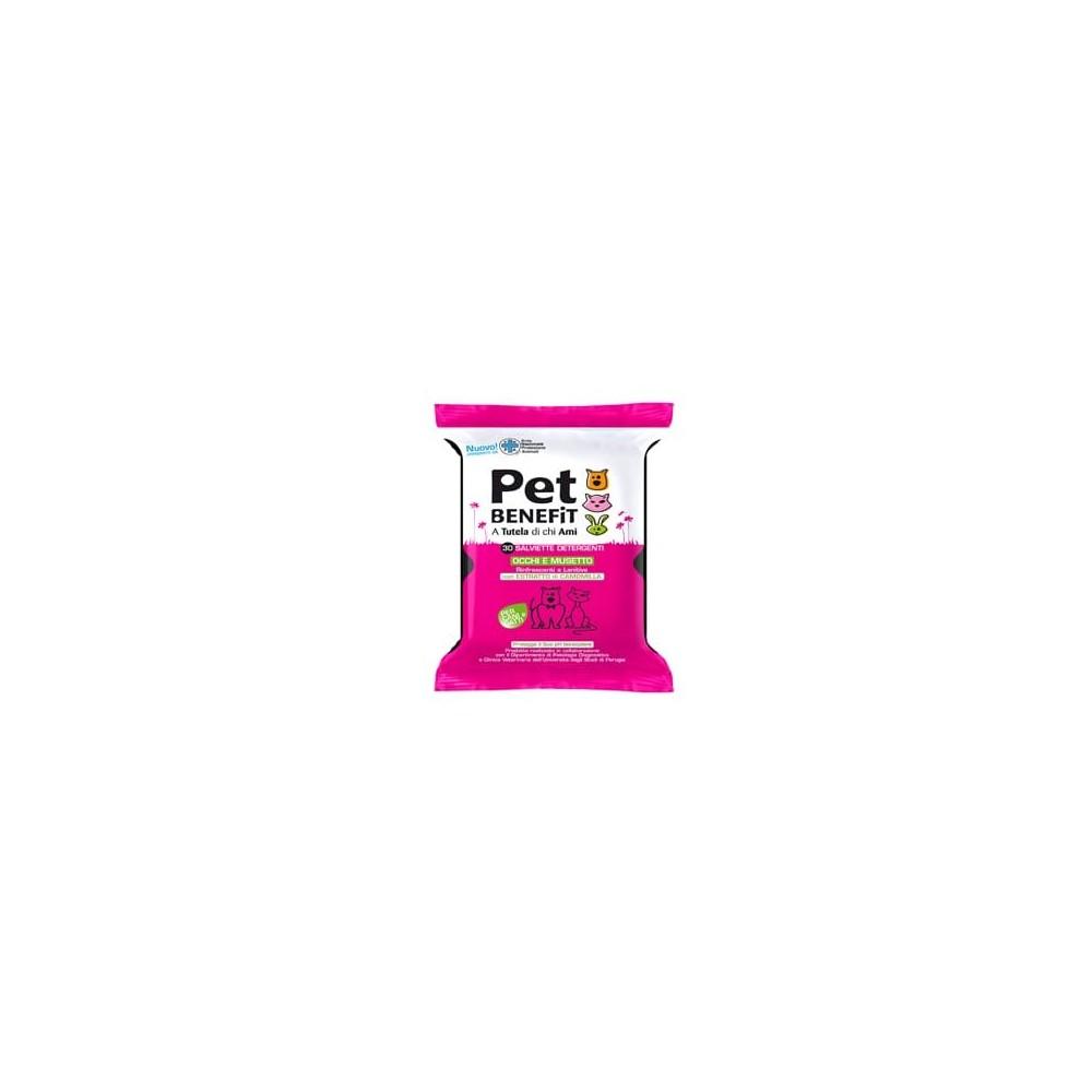 PET BENEFIT - Čisticí kapesníky na oči a čumáček pro psy a kočky 30 ks Pet Benefit - 1