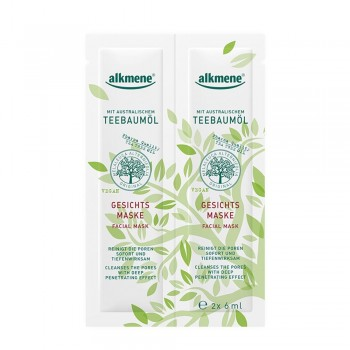 Alkmene Tea Tree oil - pleťová maska 2x6 ml Alkmene | Přírodní kosmetika - 1