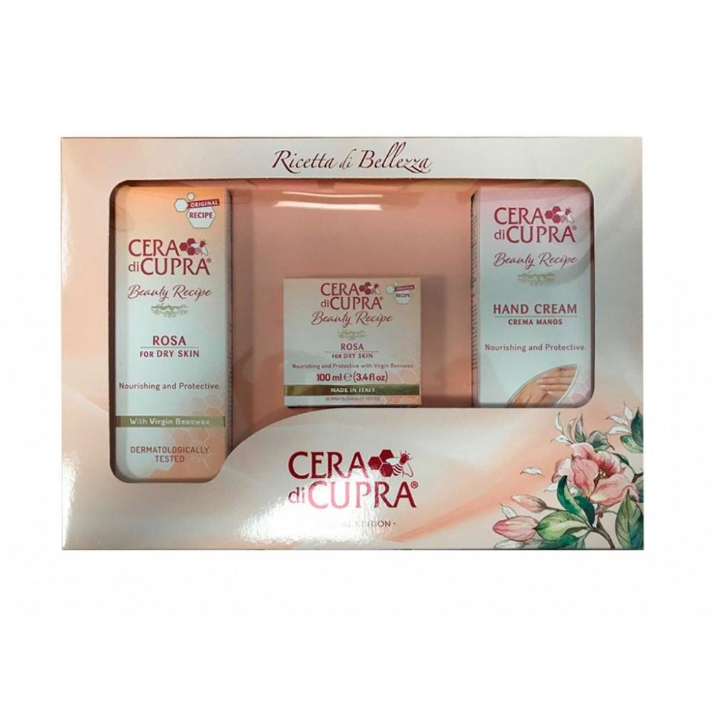 Cera di Cupra - dárková kazeta - výživný a ochranný krém 100 ml + výživný a ochranný krém 75 ml + výživný a ochranný krém 75 ml