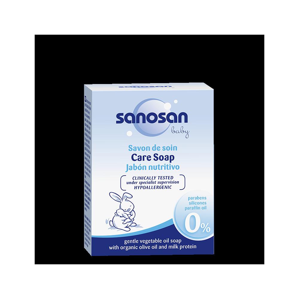 SANOSAN - jemné mýdlo z rostlinných olejů s bio olivovým olejem a mléčným proteinem 100 g sanosan - 1