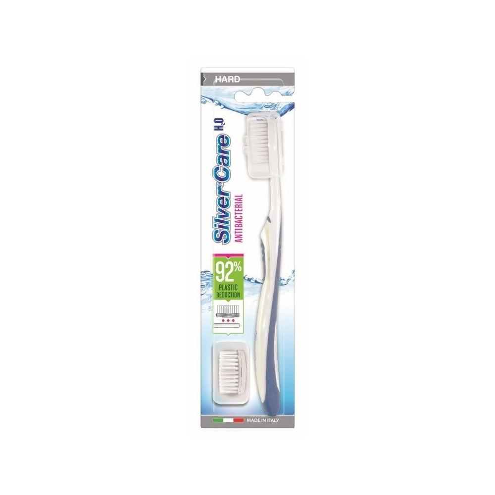 SilverCare zubní kartáček H2O tvrdý + náhrada 1ks SilverCare - 1