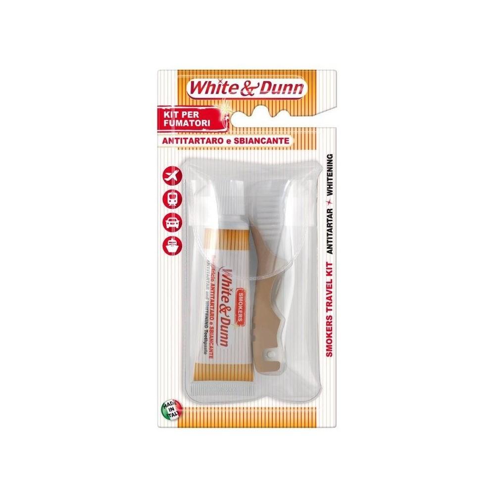 Zubní kartáček + zubní pasta pro kuřáky cestovní balení 25 ml SilverCare - 1