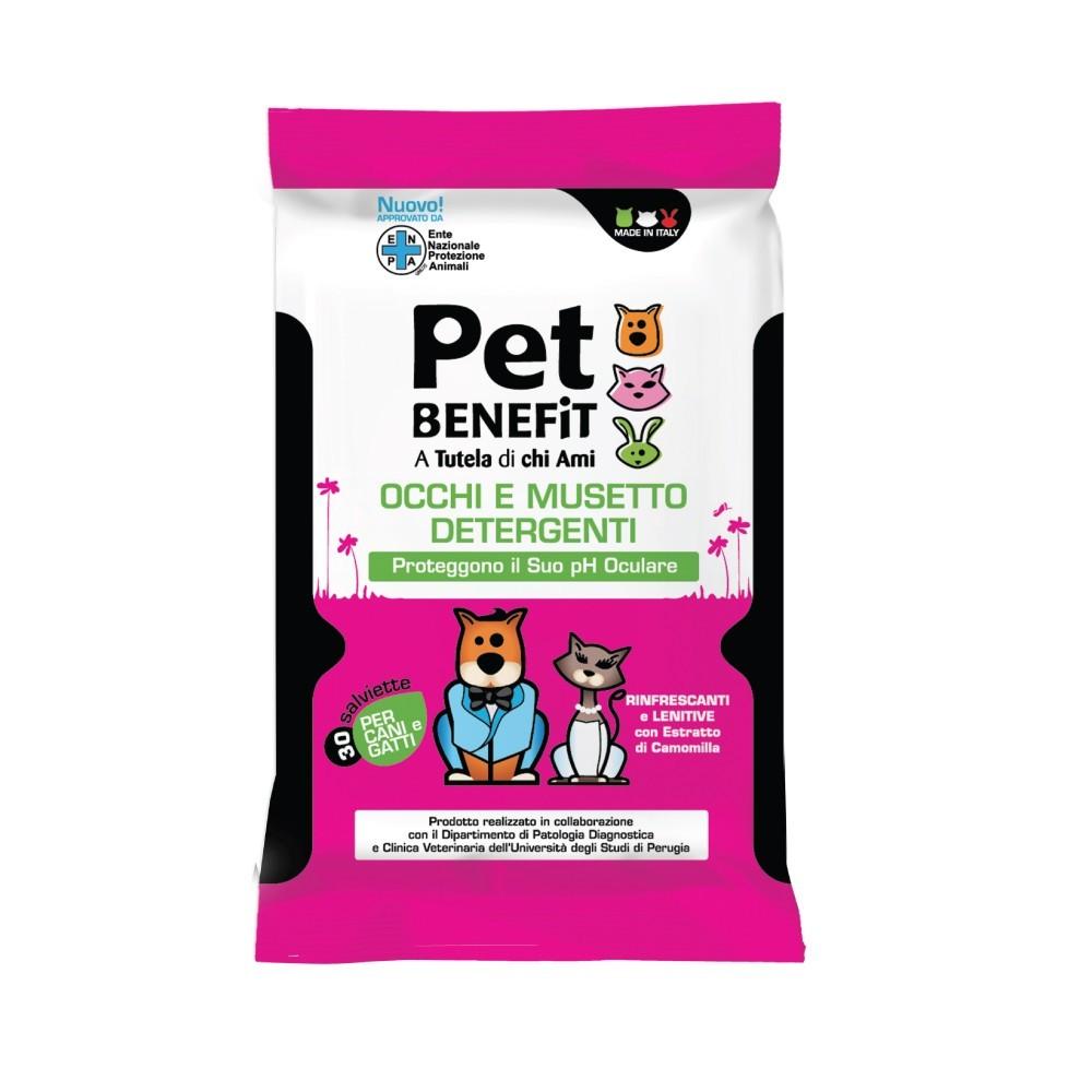 PET BENEFIT - Čisticí utěrky na oči a čumáček pro psy a kočky, 30 ks Pet Benefit - 1