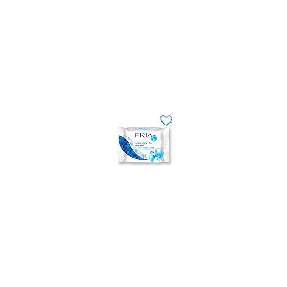 FRIA dezinvekčné hydratační čistící ubrousky pro svěžest a čistotu Fresh Energy 20 ks  - 1