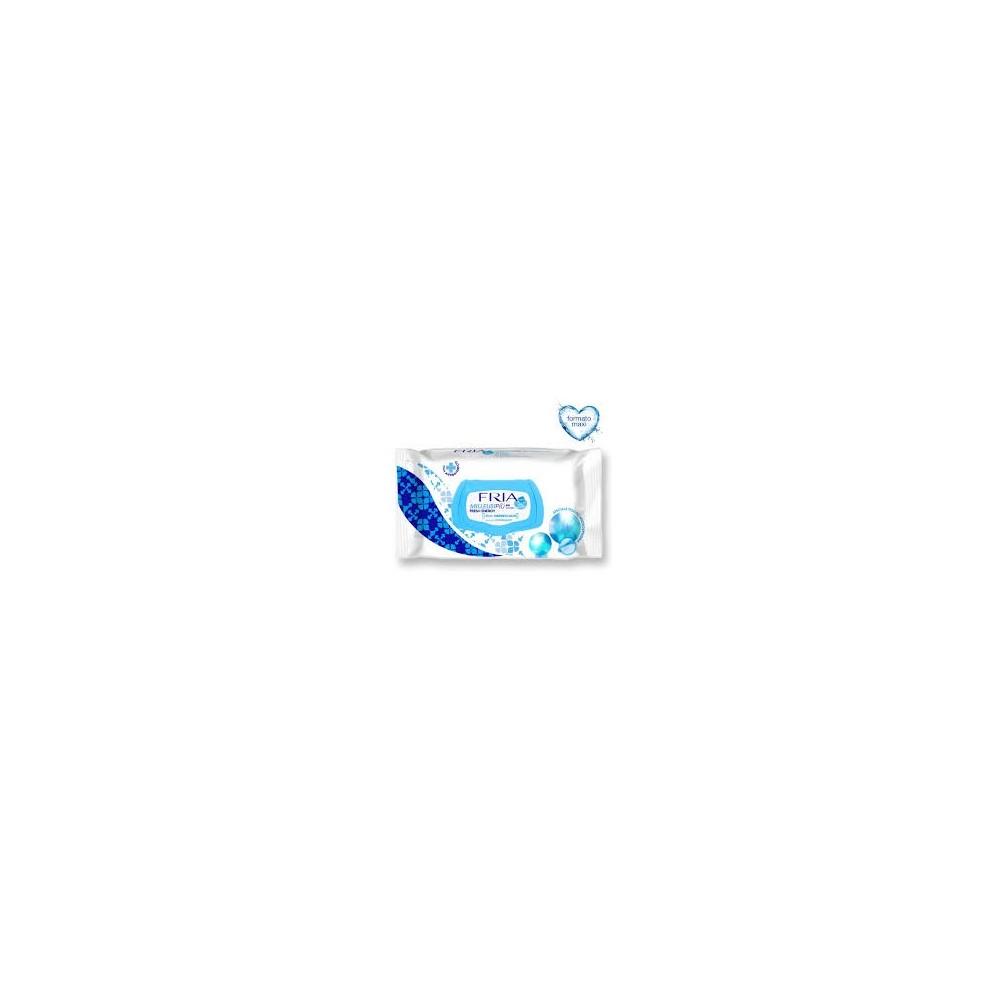 FRIA dezinfekční hydratační čistící ubrousky pro svěžest a čistotu Fresh Energy s klipem 64 ks  - 1