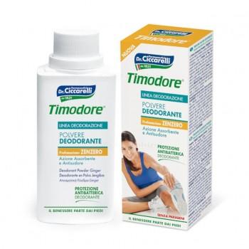 TIMODORE antibakteriální deodorant anti-perspirant pudr na chodidla se zázvorem 75 ml Timodore - 1