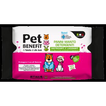 PET BENEFIT čistící vlhčené ubrousky na srst s extraktem lněných semínek a jasanu 40 ks Pet Benefit - 1